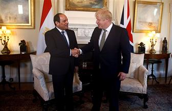 الرئيس السيسي وجونسون يتفقان على زيادة التعاون الاقتصادي وتضافر الجهود لحل الأزمة الليبية