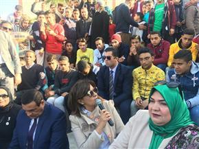 وزيرة الهجرة ومحافظ البحيرة يلتقيان طلاب المحافظة لحثهم على العمل ورفض الهجرة غير الشرعية| صور