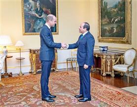 خلال لقائه الأمير ويليام.. الرئيس السيسي يؤكد تطلع مصر لتعزيز العلاقات مع بريطانيا في مجالات السياحة والتعليم