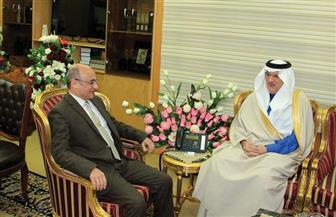 وزير العدل يستقبل السفير السعودي لاستعراض مجالات التعاون بين البلدين