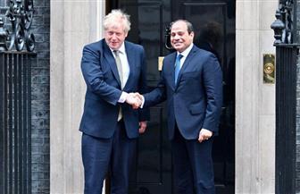 الرئيس السيسي يغادر مقر مجلس الوزراء البريطاني بعد انتهاء مباحثاته مع جونسون