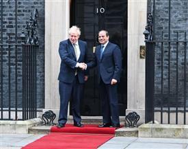 الرئيس السيسي: سعدت بلقاء الأمير وليام ورئيس الوزراء البريطاني| صور