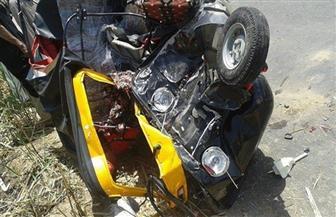مصرع شخص وإصابة 4 آخرين في حادث تصادم سيارة وتوك توك بأسيوط
