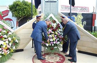 محافظ كفرالشيخ ومدير الأمن يضعان إكليل الزهور على النصب التذكاري لشهداء الشرطة | فيديو