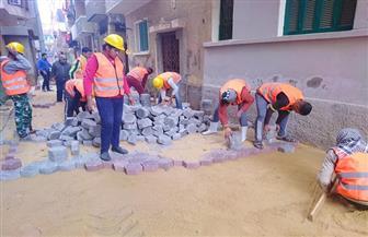 محافظ الشرقية: تركيب بلاط الانترلوك للحفاظ على نظافة الشوارع بالزقازيق | صور