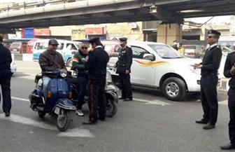 حملات مرورية مكثفة بجميع الطرق والمحاور بالتنسيق مع إدارات المرور لمنع تكدس السيارات