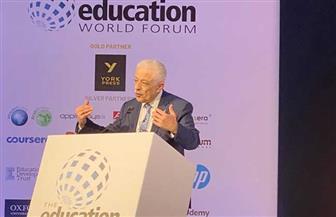 طارق شوقي يستعرض تجربة مصر في تطوير التعليم بمنتدى التعليم العالمي في لندن | صور