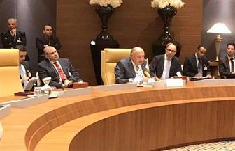 سامح شكري يشارك في دعم مسار التسوية الشاملة للأزمة الليبية بالاجتماع الوزاري بالجزائر | صور