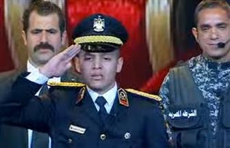 """نجل العميد وائل طاحون: """"دخلت كلية الشرطة مصنع الرجال.. وأقول للإرهاب: هنفضل نحمي بلدنا"""""""