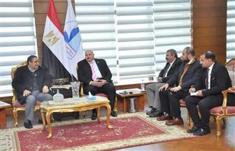 رئيس جامعة كفرالشيخ يستقبل وفد الهيئة العربية للتصنيع | صور