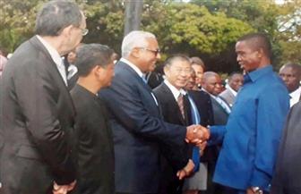 السفير المصري في لوساكا يشارك في احتفالية أقامها الرئيس الزامبي