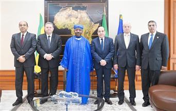 وزير قطاع الأعمال يبحث تعزيز التعاون المشترك مع رئيس الجابون |صور
