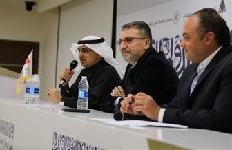 عمرو الليثي وأحمد الزهراني يناقشان مشكلات الإعلام العربي في معرض الكتاب| صور