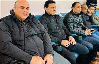 «البدري» وجهاز المنتخب في لقاء الإسماعيلي والاتحاد السكندري