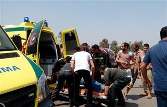إصابة 12 شخصا في تصادم سيارة ميكروباص وأخرى نقل بالوادي الجديد