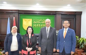 رئيس جامعة الإسكندرية يستقبل مدير مكتب الهيئة الألمانية للتبادل العلمي | صور