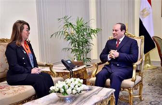 الرئيس السيسي يستقبل غادة والي.. ويؤكد دعم مصر لدور الأمم المتحدة في مواجهة التحديات العالمية | صور
