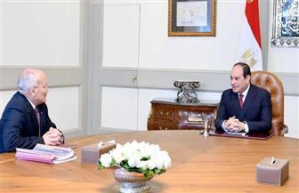 الرئيس السيسي يجتمع مع وزير الدولة للإنتاج الحربي