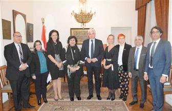 وزير الثقافة تلتقى وفدا ألمانيا لبحث سبل تعزيز التعاون بين البلدين | صور
