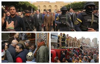 تشييع جثمان شهيد الواجب من المسجد الإبراهيمي بدسوق | صور