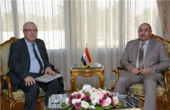 وزير الطيران المدني يلتقي أمين عام الاتحاد العربي للنقل الجوي (الأكو)