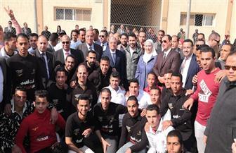 وزيرة التضامن ومحافظ المنيا يشهدان تكريم أول دفعة من متعافي الخط الساخن بمركز العزيمة | صور