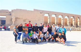 وفد شبابي من أبناء المصريين بالخارج يزور الأقصر ويشاهد أبرز معالمها الأثرية | صور