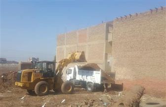 حملة لرفع أكوام القمامة بقرية فزارة بالقوصية | صور