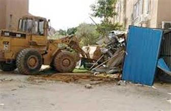 حملة لإزالة الأسوار والجراچات العشوائية بمنطقة مبارك في السويس