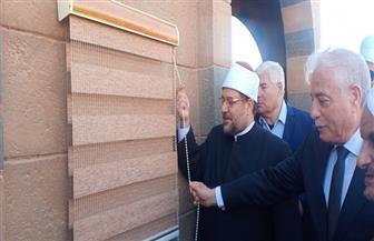 مساحته ألف متر ويطل على البحر.. وزير الأوقاف يفتتح مسجد الرحمة بطور سيناء| صور