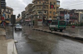 رياح شديدة وأمطار متوسطة على مدن وقرى  كفرالشيخ تتسبب في قطع الكهرباء |صور
