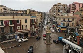 هطول أمطار غزيرة على مدن وقرى كفرالشيخ.. وتوقف الصيد | صور