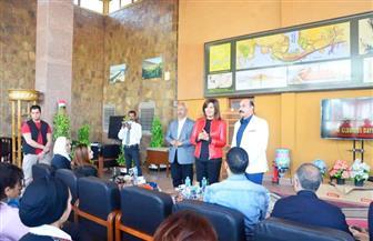 وزيرة الهجرة تلتقي محافظ أسوان لحضور عدد من جولات برنامج الملتقى الـ18 لأبناء الجيلين الثاني والثالث |صور