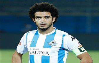 عمر جابر يحرز الهدف الأول لبيراميدز في شباك المصري