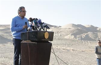 وزير السياحة والآثار يعلن أول كشف أثري خلال عام 2020 بالمنيا | صور