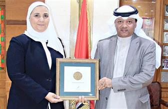 وزيرة التضامن الاجتماعي تستقبل رئيس الاتحاد العربي للتطوع| صور