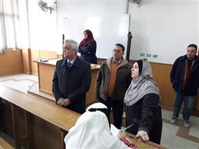 رئيس جامعة المنوفية يتفقد امتحانات الفصل الدراسي الأول بكلية التربية النوعية | صور