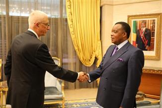 رئيس الكونغو برازافيل يستقبل نائب وزير الخارجية للشئون الإفريقية