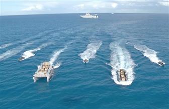 القوات البحرية تقوم بتنفيذ عملية برمائية كاملة فى البحر المتوسط | صور
