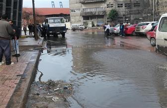 غرق مناطق بالإسكندرية.. والمحافظة تعلن الطوارئ | صور