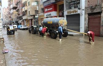 شوارع كفرالشيخ تغرق في مياه الأمطار|صور