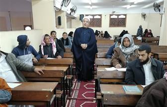 وكيل أوقاف شمال سيناء يتابع سير الامتحانات  صور