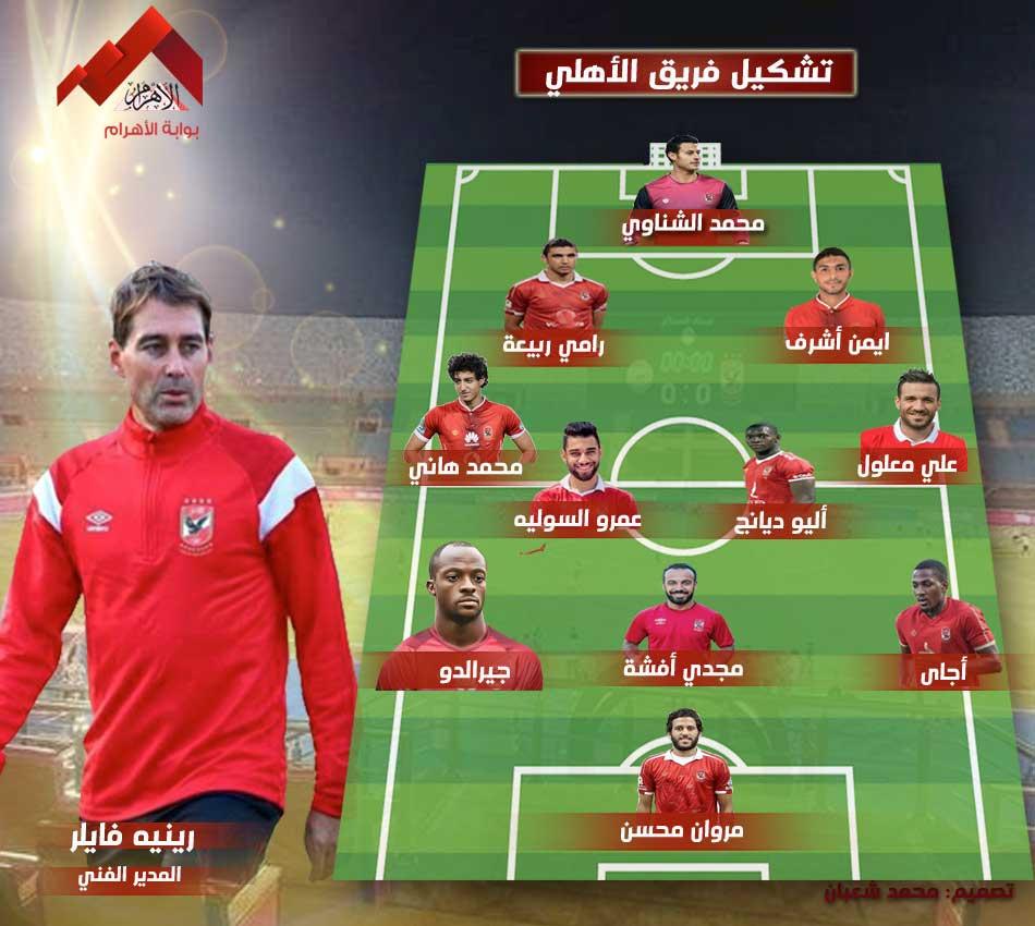 تشكيل الأهلي لمواجهة إف سي مصر بالدوري بوابة الأهرام
