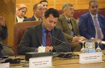 وزيرالرياضة يشهد الجلسة الثالثة من مؤتمر المبادرات الشبابية لدحر الإرهاب | صور