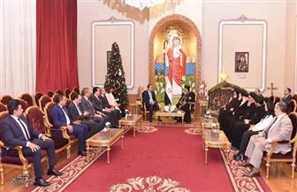 تفاصيل استقبال البابا تواضروس لرئيس الوزراء ووزراء الهجرة والعدل والتعليم العالي| صور