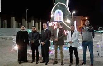 وفد من مطار مرسى علم يزور كنيسة العذراء مريم للتهنئة بعيد الميلاد المجيد | صور