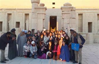 الشمس تتعامد على معبد حتشبسوت بالأقصر| صور