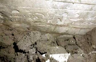 العثور على جدران فرعونية في موقع حفر للصرف الصحي في دنديط بميت غمر| صور
