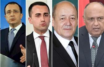 اجتماع لوزراء خارجية مصر وفرنسا وإيطاليا واليونان وقبرص لبحث تطورات المشهد الليبي