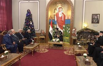 وزير التعليم يترأس وفدا لتهنئة البابا تواضروس بعيد الميلاد المجيد | صور